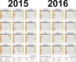 two year calender 2015 pdf calendar template 2 pdf template for two year calendar