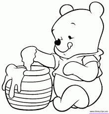 Baby Winnie The Pooh Coloring Pages With Regard To Really