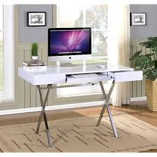 contemporary desks for office. Fine For Kings Brand Furniture Contemporary Style Home U0026 Office Desk WhiteChrome Throughout Desks For