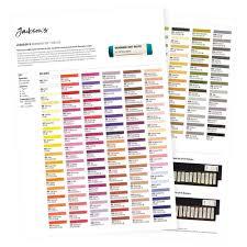 Jacksons Handmade Soft Pastels Printed Colour Chart