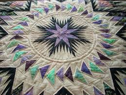 21 best Custom Quilting images on Pinterest   Custom quilts ... & Close up of center of Glacier Star quilt with custom quilting Adamdwight.com