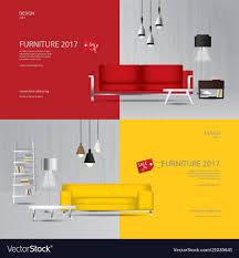 furniture sale banner. 2 Banner Furniture Sale Design Template Vector Image F