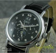 jaragar brand luxury black mens diamond watch mechanical men jaragar brand luxury black mens diamond watch mechanical men leather watches strap sun moon stars