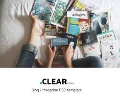 Magazine Template Psd Clear Blog Magazine Template Psd File Free Graphics Uihere