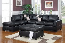 faux leather sectional. Black Faux Leather Sectional 4