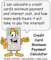 Calculator Credit Card Payment Credit Card Minimum Payment Calculator With Habit Busting