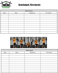 Wod At Home Log Book Wod At Home Full Wod Programming For The