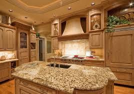 custom wood kitchen island with granite counter