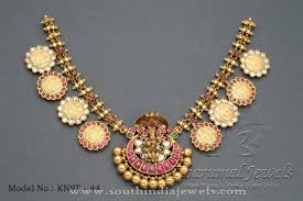 Gold Coin Pendant Designs Antique Gold Coin Necklace From Tibarumal Jewels Gold