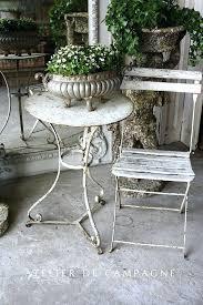 full image for white garden bistro table antique white metal bistro garden table and chairs white