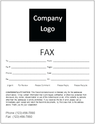 Free Fax Cover Sheet Template Printable Word Example