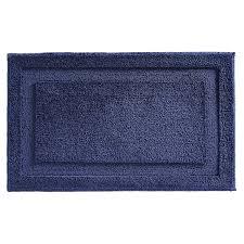 interdesign microfiber spa bath rug navy 17004