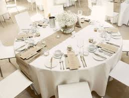hessian table runner lace