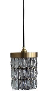 crystal mini gold pendant light by
