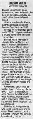 Obituary for Brenda Doris WOLTZ (Aged 58) - Newspapers.com