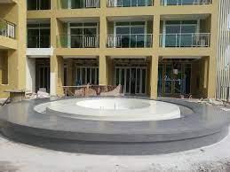 หินขัดบ่อน้ำพุ โรงแรม คริสตัล พาเลซ พัทยา