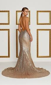 Alamour The Label Size Chart Holiday Magic Rose Gold Sequin Spaghetti Strap V Neck X Back