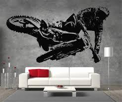 Motocross Bedroom Decor Details About Motocross Kawasaki Motorbike Vinyl Sticker Wall Art