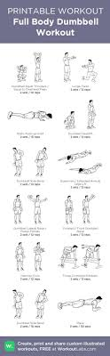 Full Body Dumbbell Workout My Visual Workout Created At