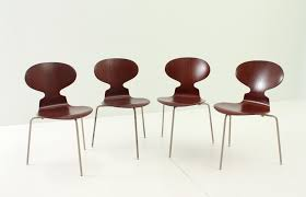 arne jacobsen furniture. early ant chairs by arne jacobsen for fritz hansen 1950s set of 4 furniture
