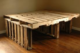 bedroom diy pallet bed frame with storage compact painted diy bedframe from pallets intended for