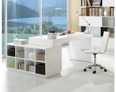 white modern office. Wonderful Office Modern Home Office Desk With Built In Bookcase In Glossy White Finish Inside U