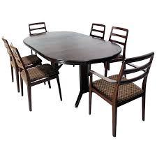 mid century modern round dining table set danish mid century modern rosewood round dining table set