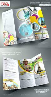 Fold Brochure Template Travel Agency Free Sample And Tourism