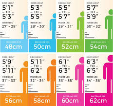 Bicycle Size Chart Bike Size Chart Machine Bicycle Co