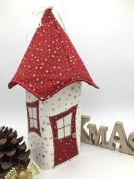 Lichthaus Ca 34 Cm Wichtelhäuschen Weihnachtshaus Weihnachtslampe Weihnachtsdeko Fensterdeko Rot Gold