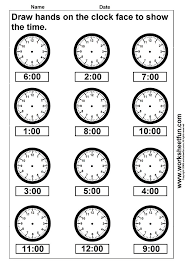 Pictures on Math Clock Worksheets, - Easy Worksheet Ideas