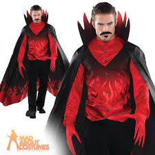 mens devil costume cool diablo outfit fancy dress costume cape ebay
