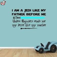 <b>Star Wars Jedi Harry Potter</b> Wall Decal Sticker I am a <b>Jedi</b> Unless ...