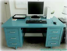 vintage metal office desk. Vintage Metal Army Desk {before \u0026 After} | Makeover, And Office
