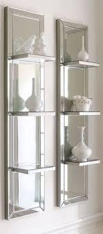 mirrored wall shelf mirrored