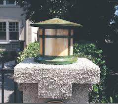 Arroyo Craftsman Post Lights Arroyo Craftsman Berkeley 1 Light Glass Outdoor Column Mount