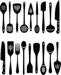 kitchen utensils silhouette vector free. Vector Art : Kitchen Utensils Silhouette Free N