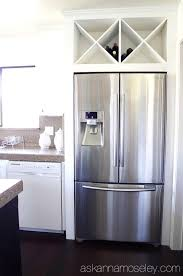 outstanding refrigerator cabinet kitchen cabinets wine racks diy wine rack above fridge jpg