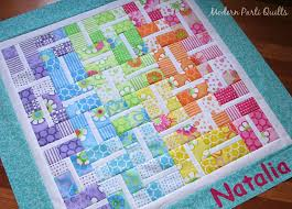 Baby Quilt Patterns Cool Modern Parti Quilts Rainbow Baby Quilt Top