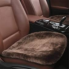 silence ping 1piece sheepskin seat pad universal fit leather and patented non slip backing