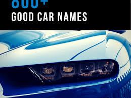 800 good car names based on color