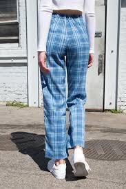 Light Blue Plaid Pants Tilden Pants
