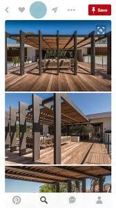 Modern pergola outdoor garden summertime shade