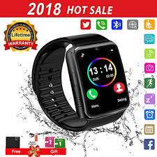 Smart Watch for Android Phones 2018 Bluetooth Smartwatch Phone Waterproof Watches Touchscreen with Camera Compatible IOS iphone X 8 7 6