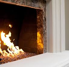 fireplace glass rocks