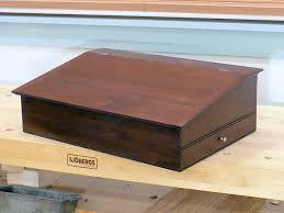 walnut shaker lap desk