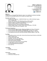 Entry level flight attendant resume sample admirable picture