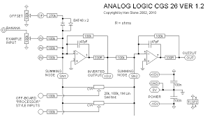 ken stone s modular synthesizer the schematic of the onboard mixer included on the ver1 2 pcb