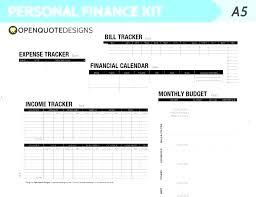 Monthly Finance Planner Personal Bills Spreadsheet Template Monthly Finance Planner Personal
