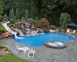 inground pools with waterfalls and slides. Best Inground Pool Slides Design Pools With Waterfalls And